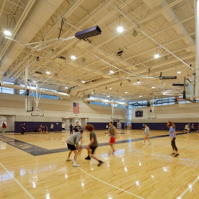 Gymnasium at North Middlesex Regional High School in Townsend