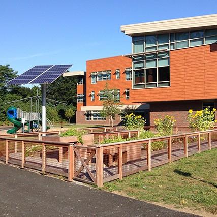 Outdoor allotment at Bancroft high school in Massachusetts
