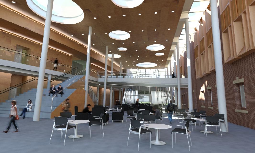 Atrium Rendering for Architecture, Engineering, and Site Design
