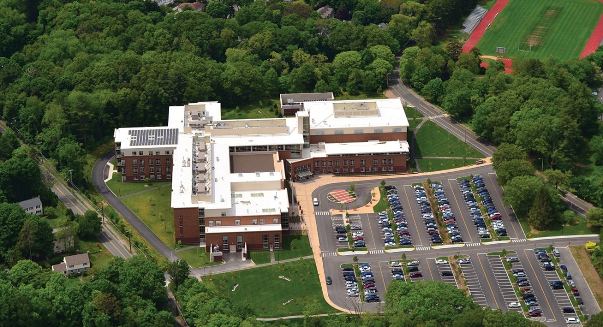 Wellesley High School Aerial View