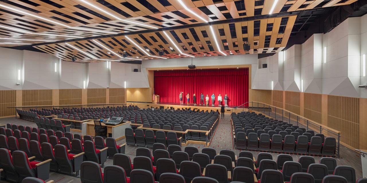 New school auditorium at Winchester High School