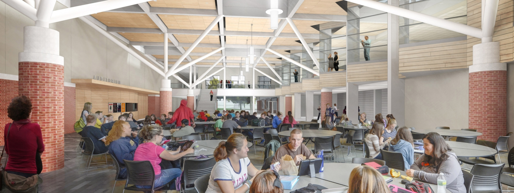 Architecture and Interior Design Services for Winchester High School Cafeteria